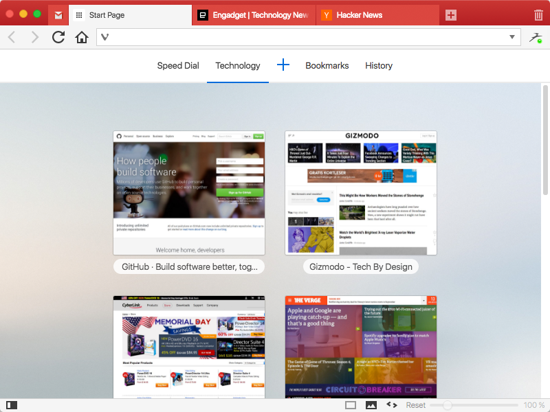 The Vivaldi browser is hyper-customizable and does not track you.
