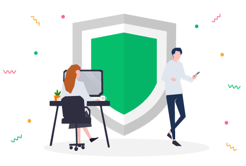 Ad Blocker shield illustration