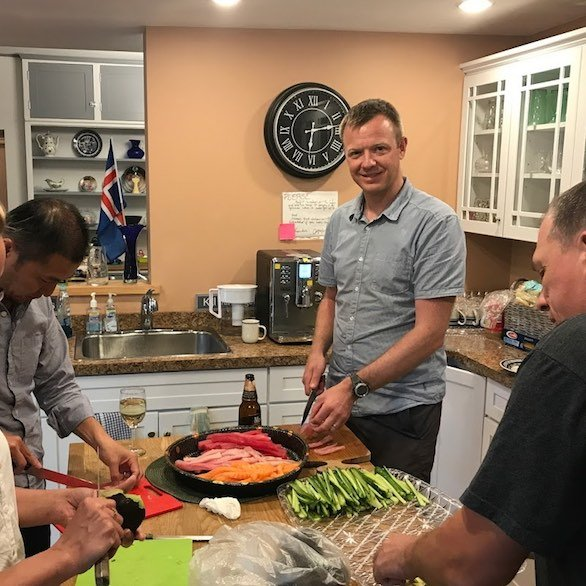 Team sushi at the Innovation house in Magnolia