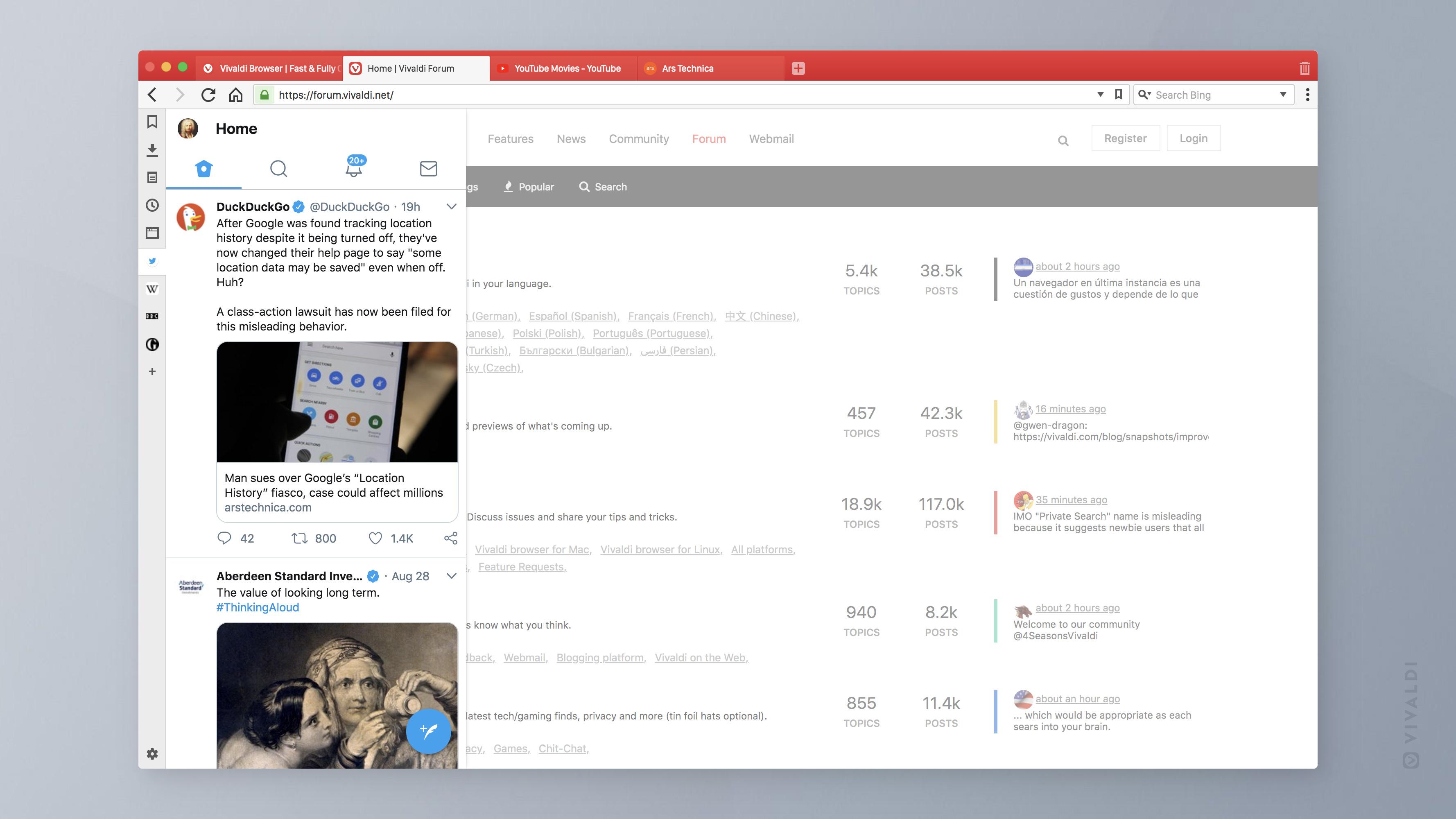 Suggested Web Panels