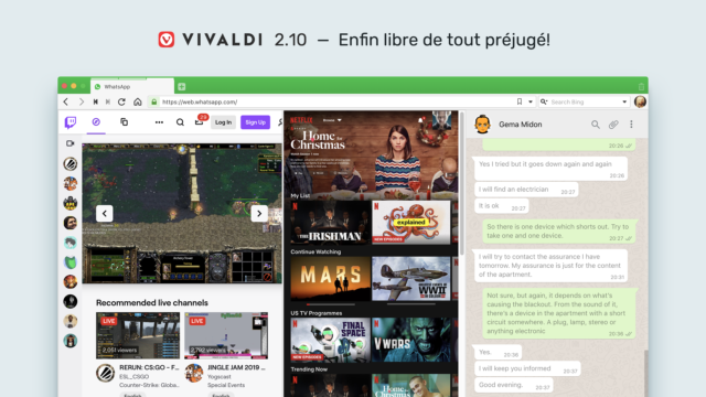 Image montrant Vivaldi 2.10 enfin libre de tout préjugé !
