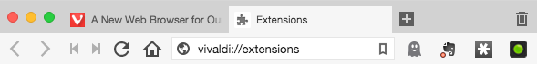 Extensions UI