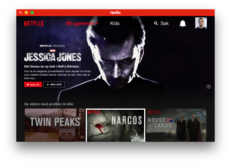 Netflix in Chromeless UI