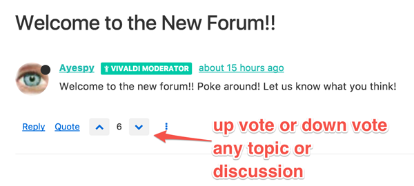 Vivaldi New Forum - voting option
