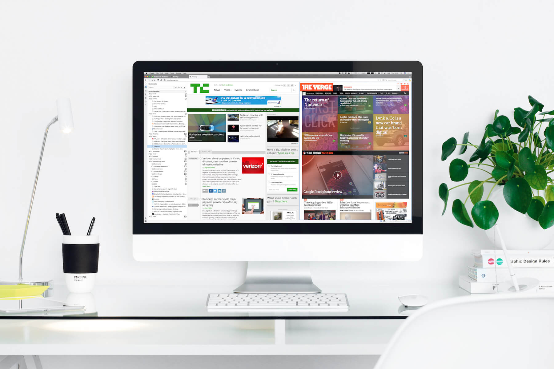 Vivaldi in Workspace iMac mockup