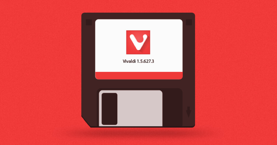 Vivaldi Browser floppy disk