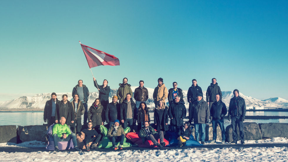 Vivaldi team photo in Iceland