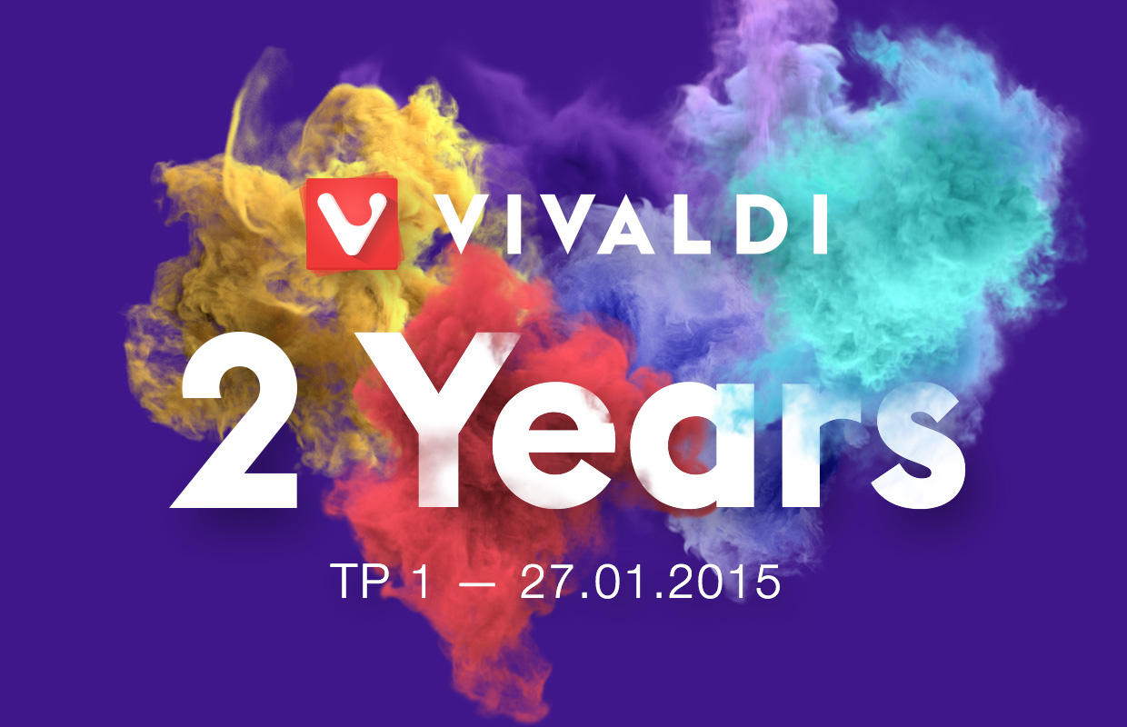 Vivaldi Browser celebrates 2-year anniversary banner