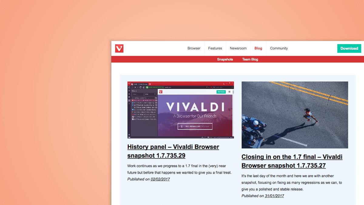 Vivaldi Blog gets a new look