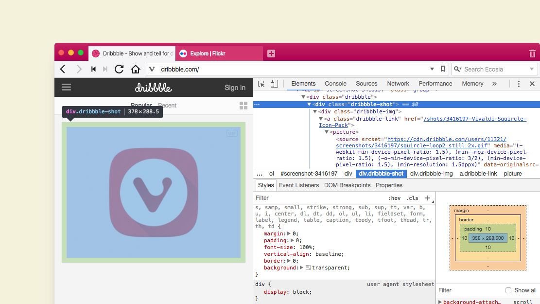 Docked Developer Tools - snapshot 1 10 829 3 | Vivaldi Browser
