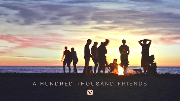 A 100 K Friends!