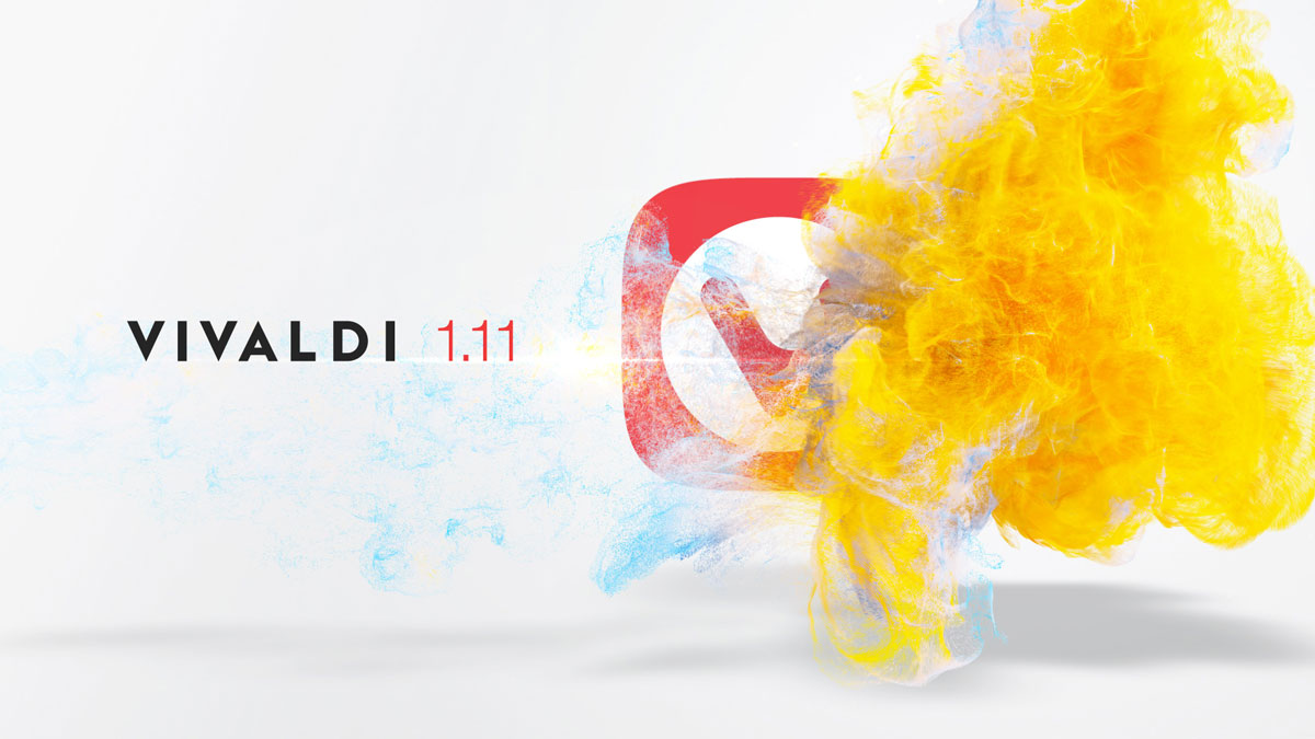 Vivaldi browser 1.11 with a new icon
