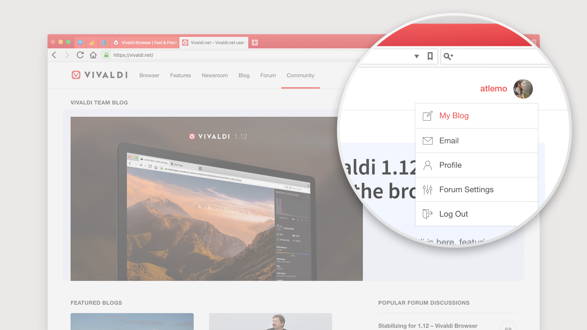"Where to find ""My blog"" in new vivaldi.net"