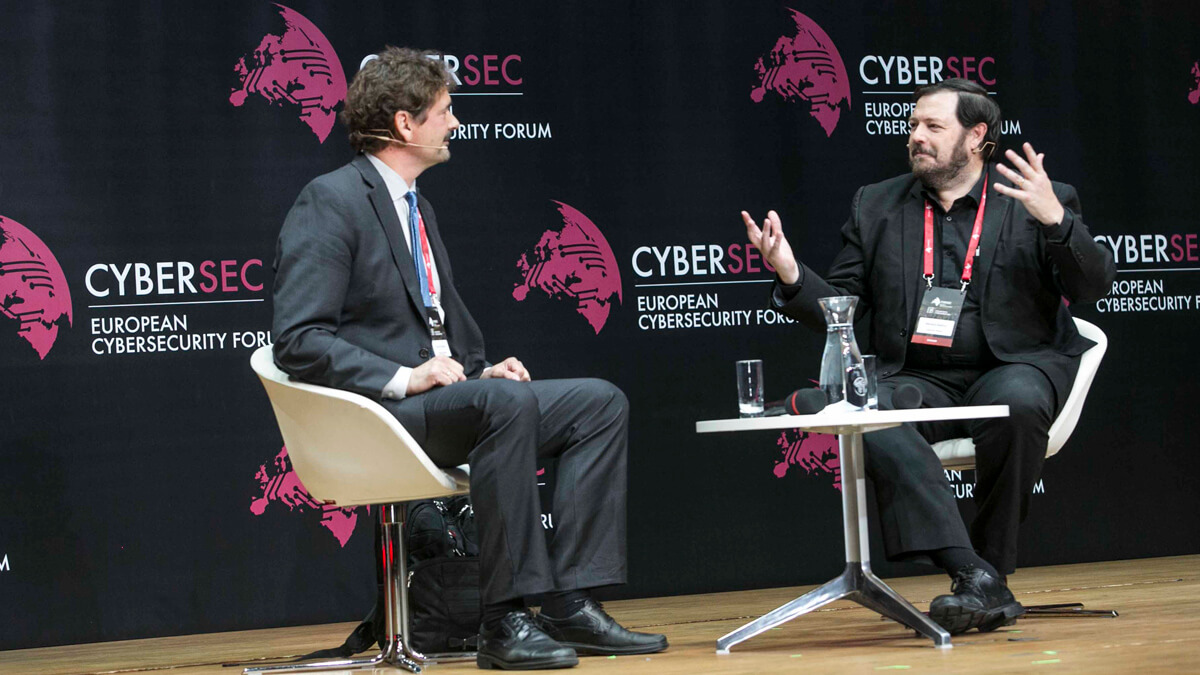 jon von tetzchner at the European Cybersecurity Forum 2017