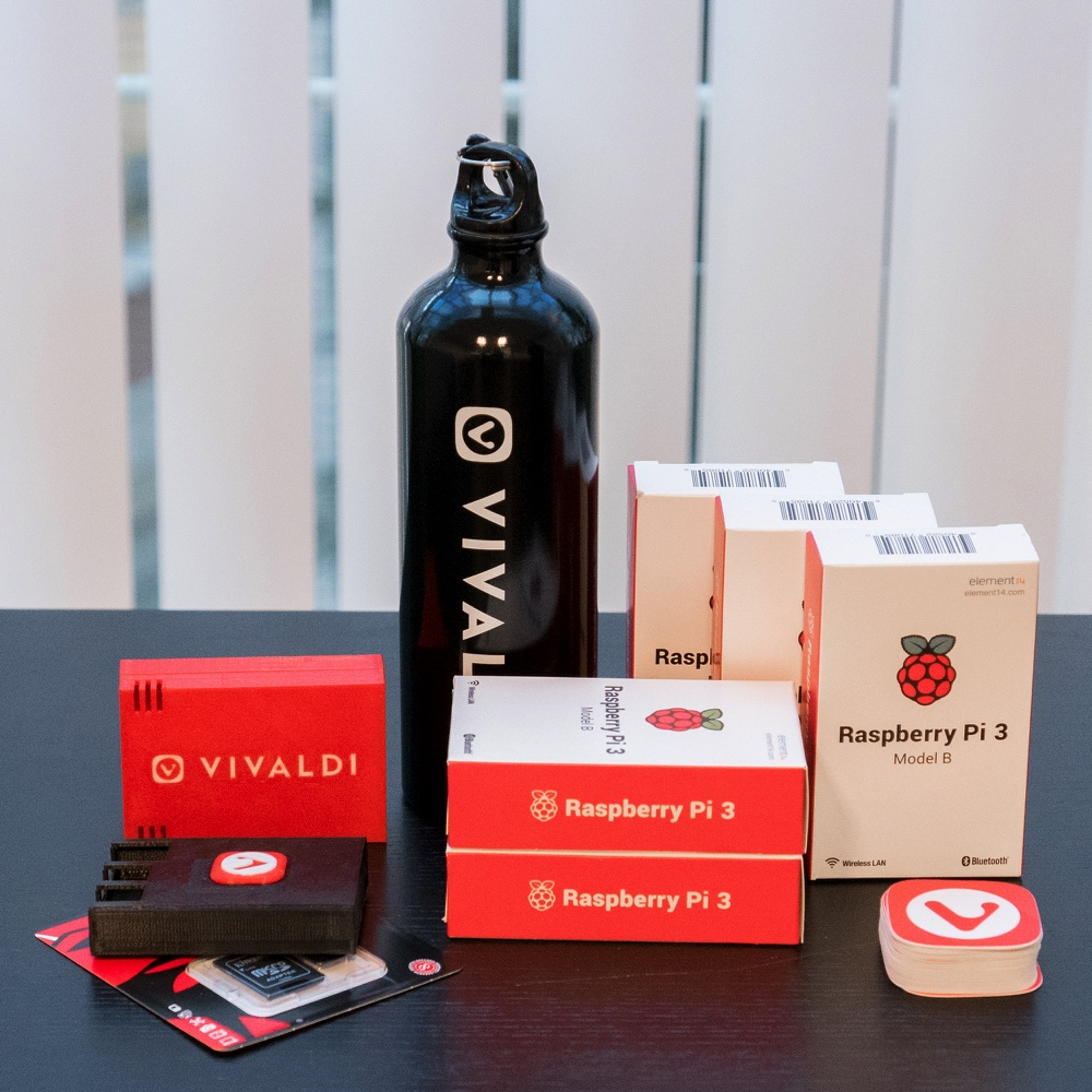 Vivaldi and Raspberry Pi giveaway prizes