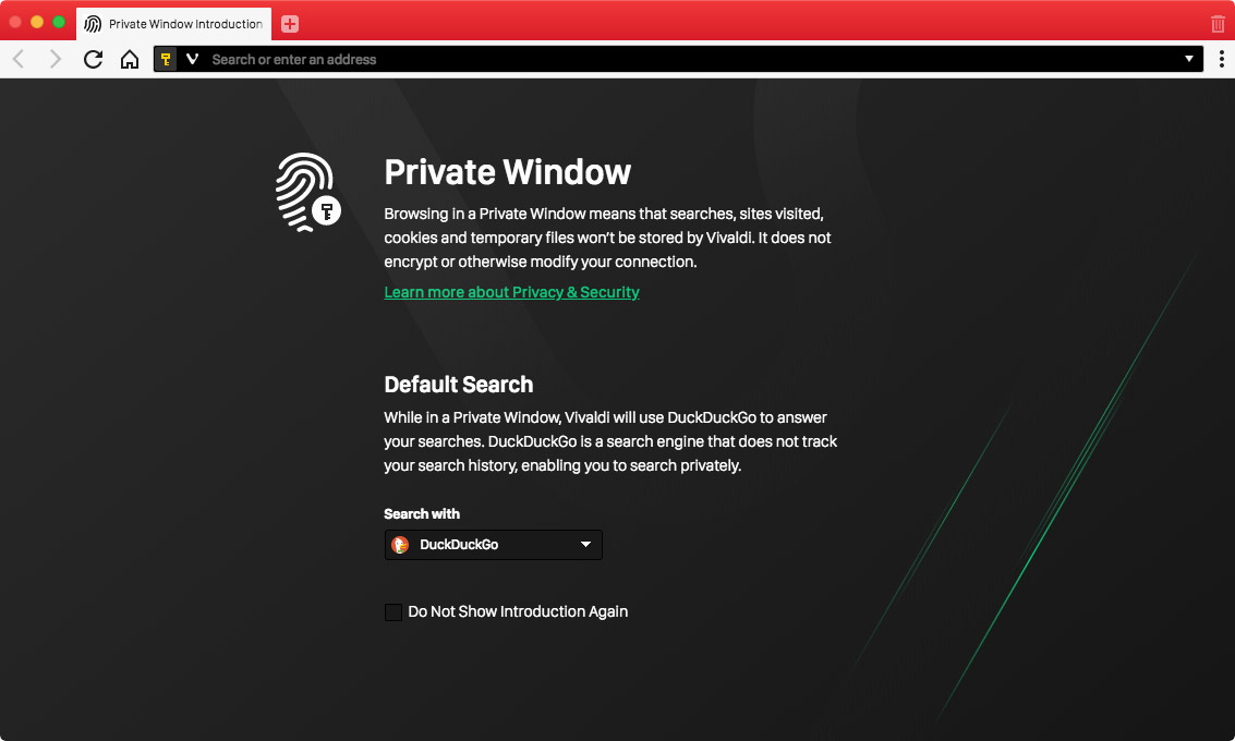 Vivaldi Private Window