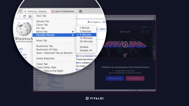 Vivaldi browser 3.4 look.