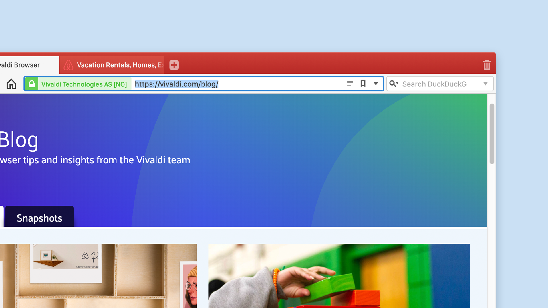 Address Field in Vivaldi browser