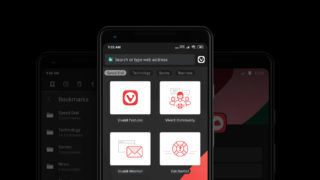 Vivaldi Beta 2 for Android in dark mode