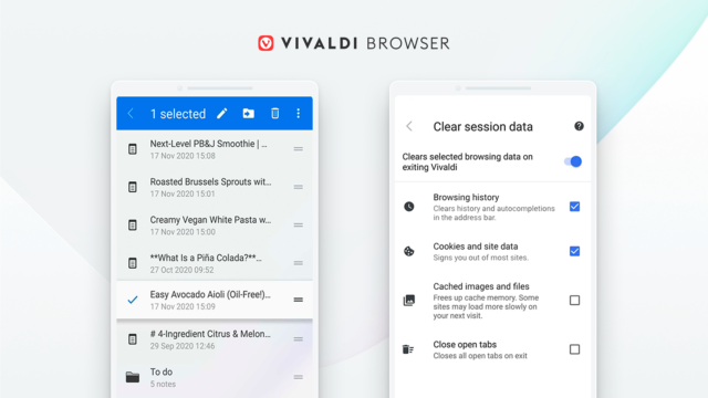 Vivaldi 2.5 Android