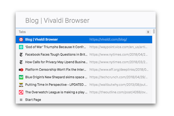 Quick Commands Guide | Vivaldi Browser