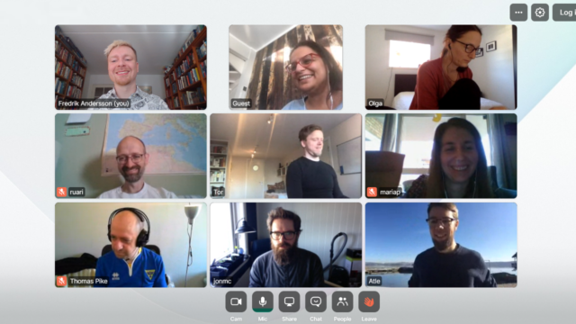 Vivaldi team on Whereby on launch day.