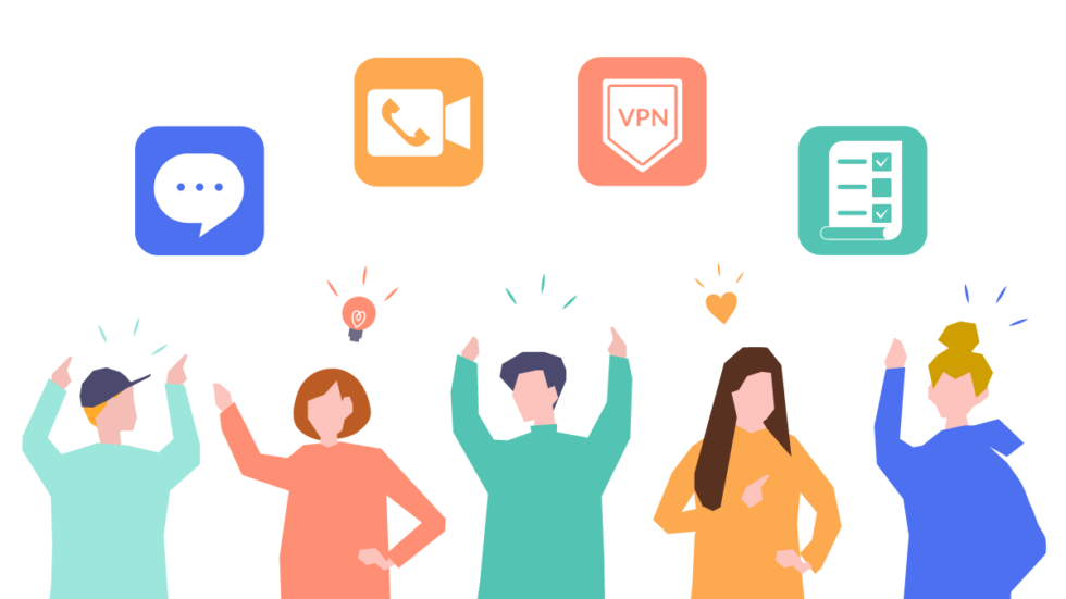 People recommend private apps for remote work.