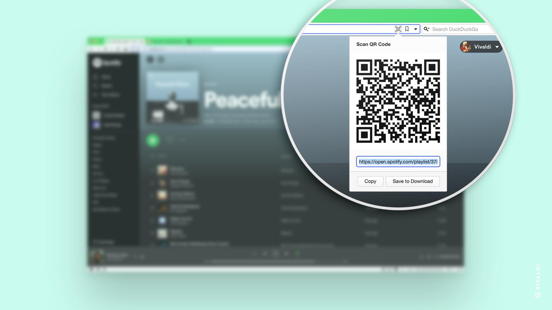QR Code in Vivaldi Address Field