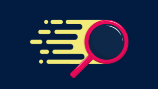 Magnifying glass shows searching for information on the web quickly