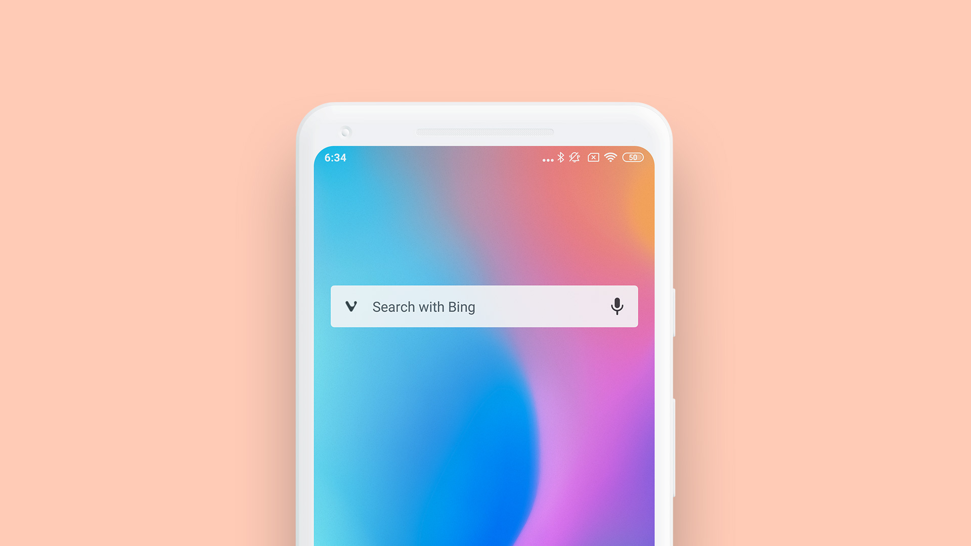 Vivaldi search widget displayed on an Android homescreen