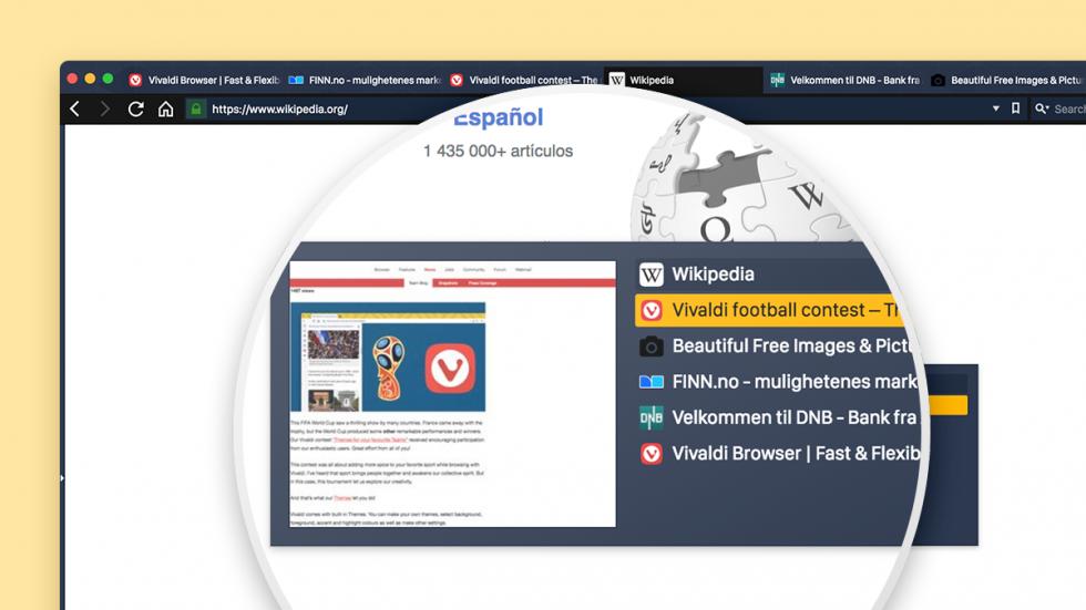 Tab Cycler in the Vivaldi browser