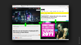 Viewing multiple web pages side by side without extensions.