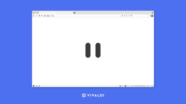 Vivaldi browser Break Mode button.