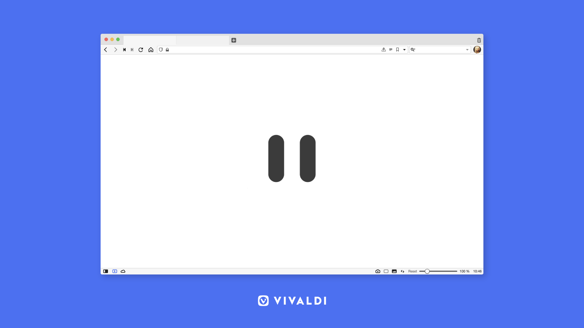 Vivaldi browser Break Mode button.