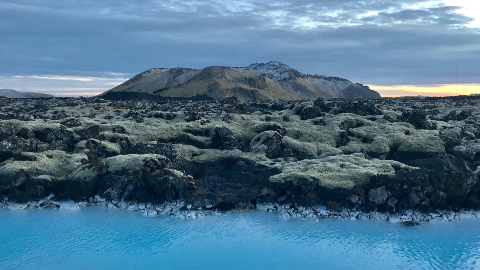 Photo showing the mountain Þorbjörn in Iceland