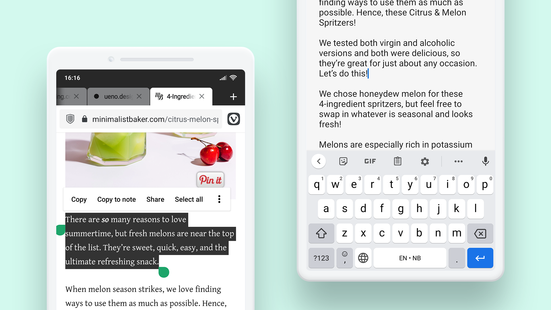 Note-taking on Android.