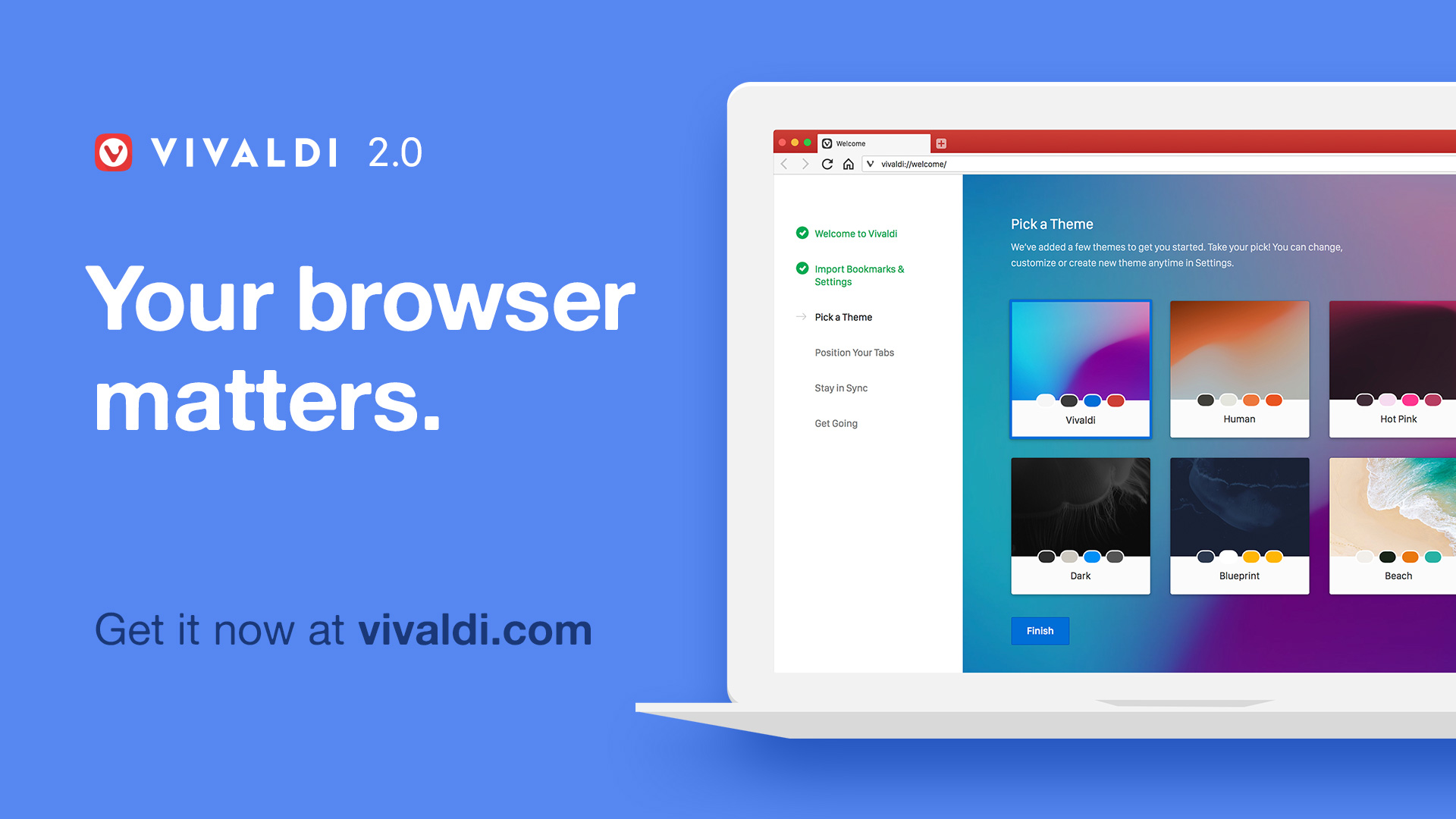 Vivaldi 2.0 – Your browser matters